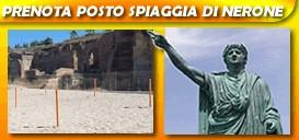 Prenota il posto sulla spiaggia di Nerone